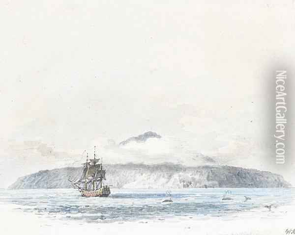 The Largest Island Of Tristan De Cunha Oil Painting - William Alexander