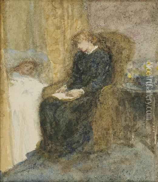 Study For 'the Convalescent' Oil Painting - Helen Mary Elizabeth Allingham