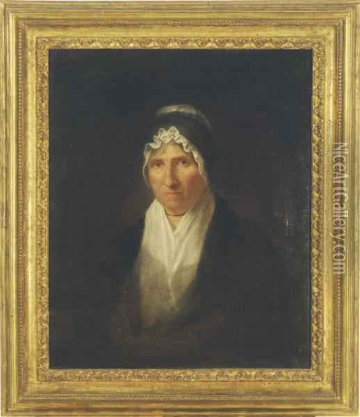 Portrait Of Mrs. William Channing Oil Painting - Washington Allston