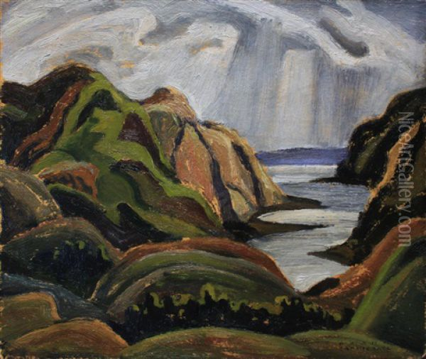 Untitled - Snow Clouds Oil Painting - Franklin Carmichael