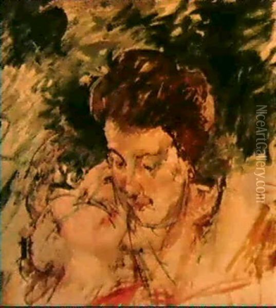Preparatory Sketch For 'mother And Child In A Boat' Oil Painting - Mary Cassatt