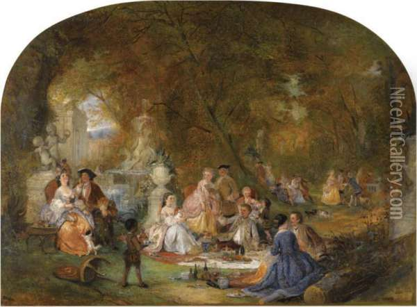 The Picnic Oil Painting - Henry Andrews