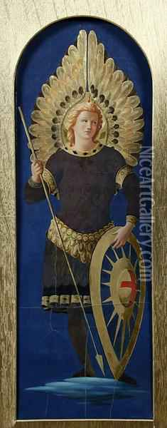 St Michael The Archangel Oil Painting - Fra Angelico (Guido di Pietro)