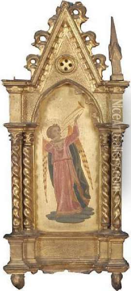 Angel Musician Oil Painting - Fra Angelico (Guido di Pietro)