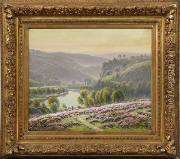 Paysage De Bruyeres Oil Painting - Gaston Anglade
