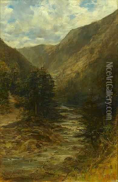 The Rocky Mountains, British Columbia, Canada,a Pair Oil Painting - Francis Abel William Armstrong