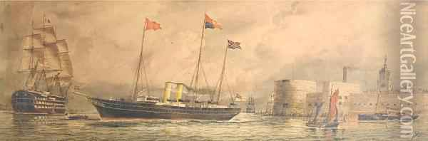 The Royal Yacht Oil Painting - William Edward Atkins