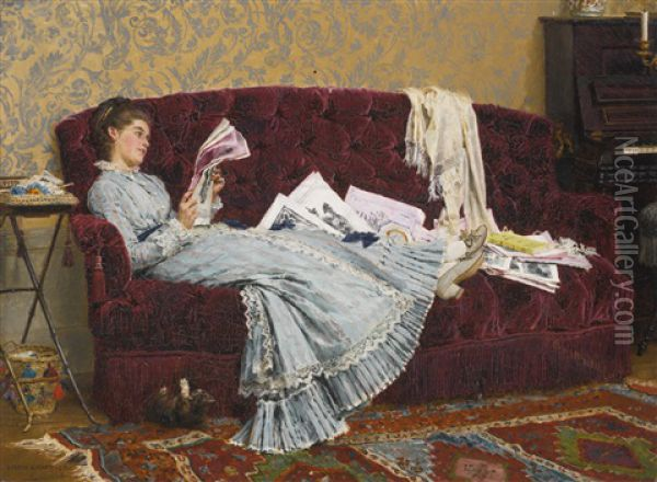Sunday Afternoon Oil Painting - Marie Francois Firmin-Girard
