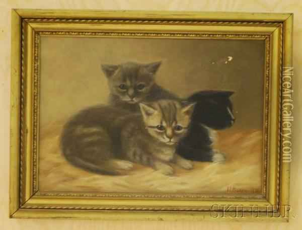 Kittens Oil Painting - Irving Lewis Bacon