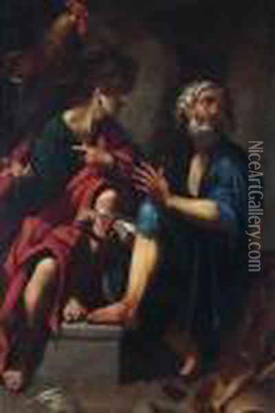 Saints Peter And Matthew Oil Painting - Giovanni Baglione