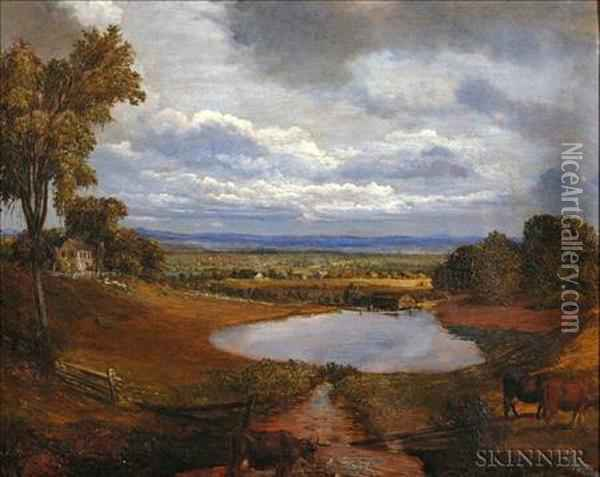 Connecticut River Valley View. Oil Painting - William Bliss Baker