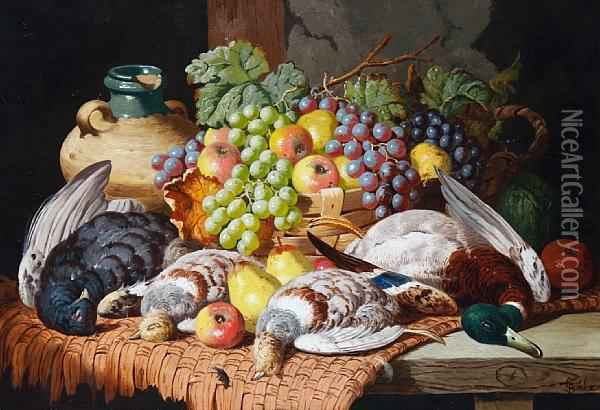A Larder Still Life Oil Painting - Charles Thomas Bale