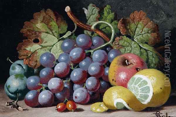 Still Lifes Of Fruit Oil Painting - Charles Thomas Bale