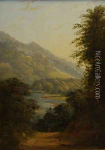 The Woodland Glade Oil Painting - George Grey Barnard
