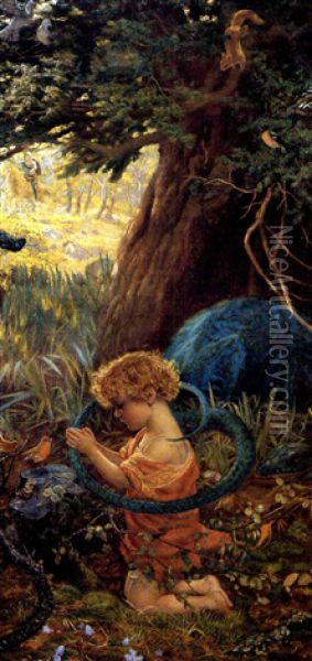 The Rescue Oil Painting - Arthur Hughes