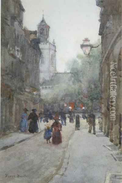 St George's Church & Hanover Square Oil Painting - Rosemary Barton
