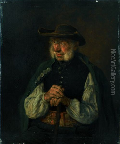 Alter Bauer Oil Painting - Hugo Wilhelm Kauffmann