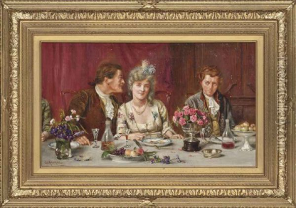The Suitors Oil Painting - George Goodwin Kilburne