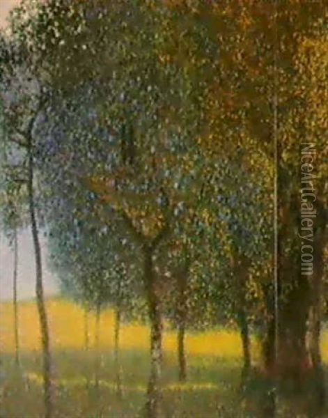 Obstbaume Am Attersee Oil Painting - Gustav Klimt