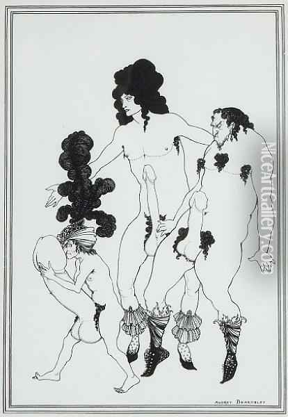 Aristophanes Oil Painting - Aubrey Vincent Beardsley