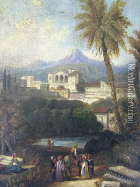 'a View Of Larnaca Oil Painting - Giovanni Bellini