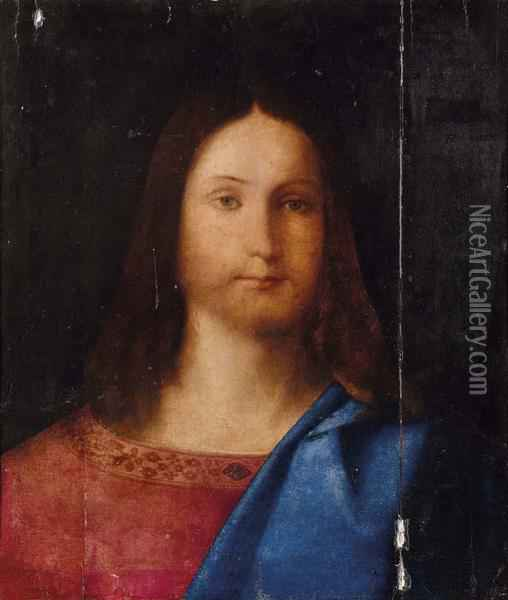 Testa Di Salvatore Oil Painting - Giovanni Bellini
