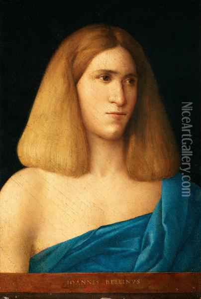 Portrait Of A Young Man Oil Painting - Giovanni Bellini
