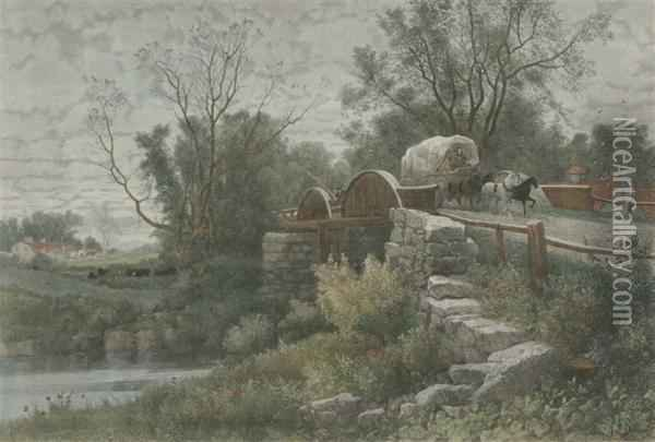The Old Mill Stream Oil Painting - Albert (Fitch) Bellows