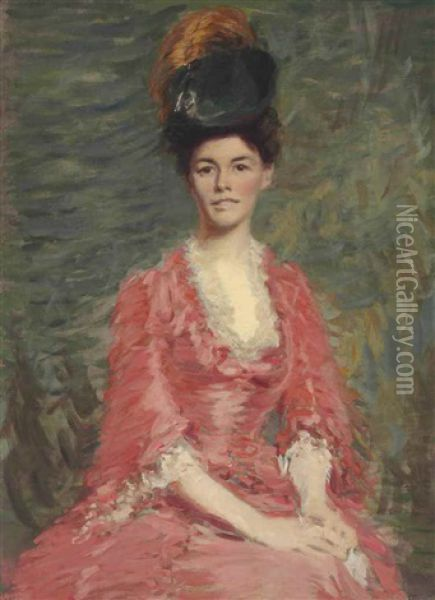Mrs. Alice Macmonnies Oil Painting - Frederick William MacMonnies