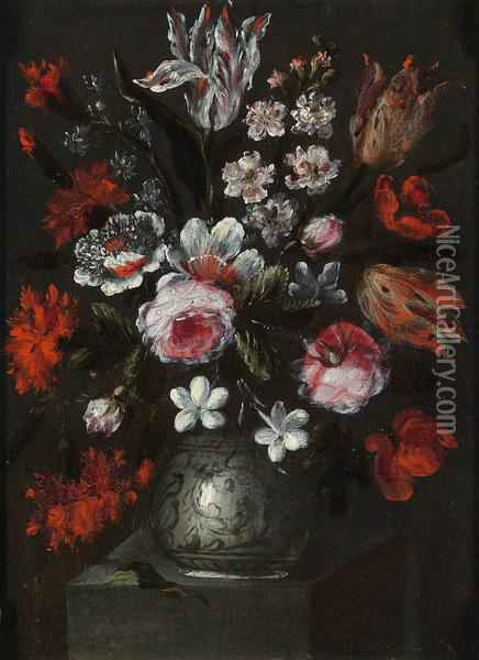 Nature Morte Con Vasi Di Fiori Oil Painting - Francesco Bettio