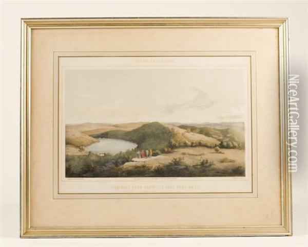 The Salt Pond ....., Giles Co., Va. No.1 Oil Painting - Edward Beyer