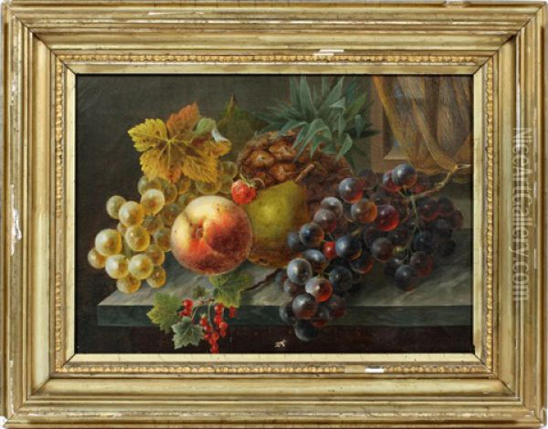 Still Life Of Fruit Oil Painting - Eleanor Ecob Morse