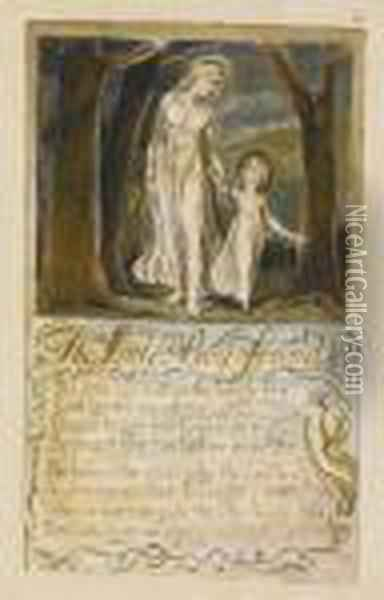 The Little Boy Found Oil Painting - William Blake