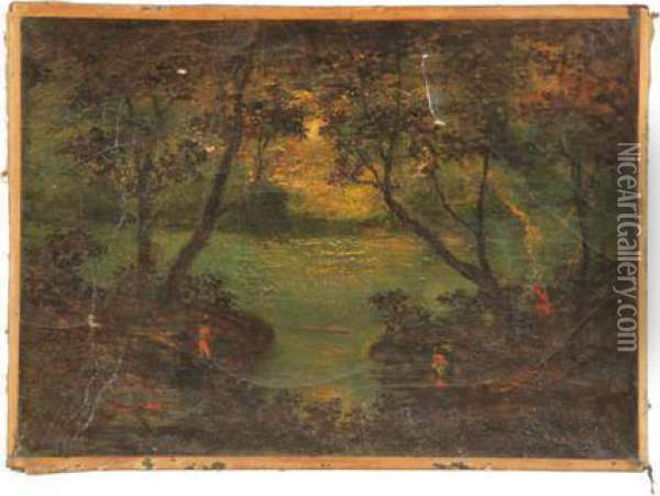 Landscape Oil Painting - Ralph Albert Blakelock