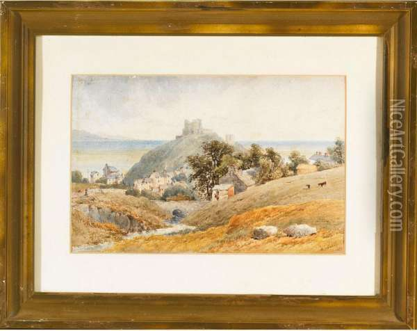 Cathedral Town Between Stourbough And Swansea Oil Painting - William James Boddy