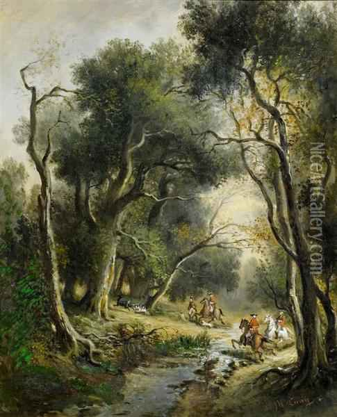 Hunting Scenes Oil Painting - Jean-Louis Bonthoux
