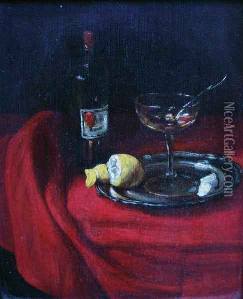 Nature Morte A L'absinthe Oil Painting - Francois Bonvin