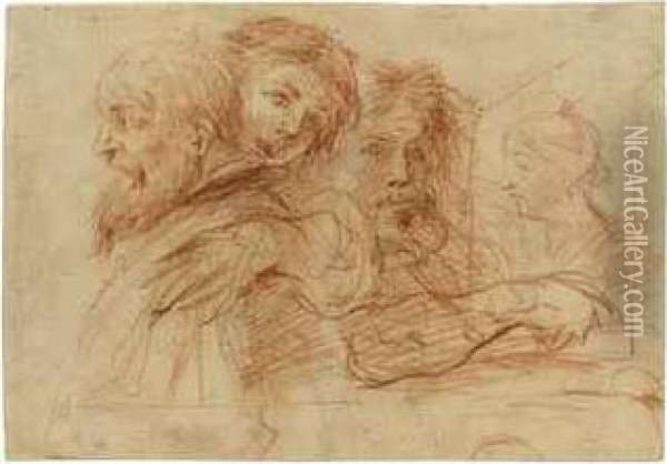 The Three Ages Of Man Oil Painting - Giovanni Maria Bottalla