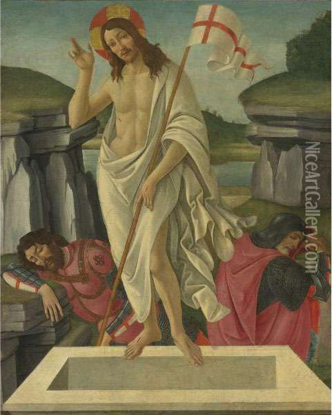 The Resurrection Oil Painting - Sandro Botticelli