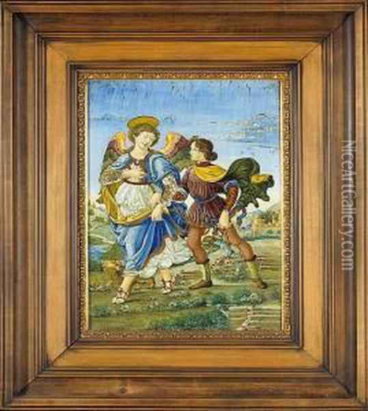 The Archangel Raphael And Tobias Oil Painting - Sandro Botticelli