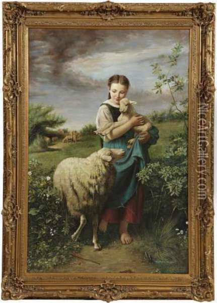 Young Shepherdess Oil Painting - William-Adolphe Bouguereau