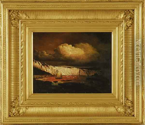 Study For  View Of The Sermitsialik Glacier Oil Painting - William Bradford