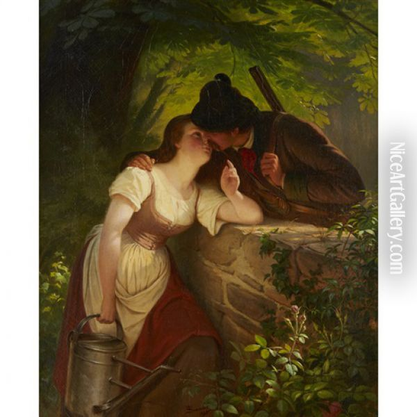 The Young Hunters Oil Painting - Wilhelm Simmler