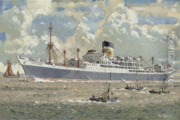 The City Of Durban On The Thames (+ The Nigaristan; 2 Works) Oil Painting - John S. Smith