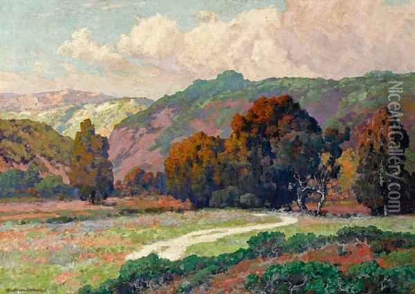Road To The Canyon Oil Painting - Maurice Braun