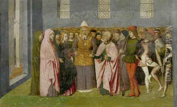 The Marriage Of Mary Oil Painting - Ludovico Brea