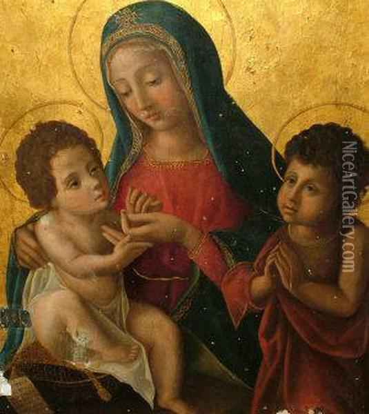 The Madonna And Child Oil Painting - Ludovico Brea