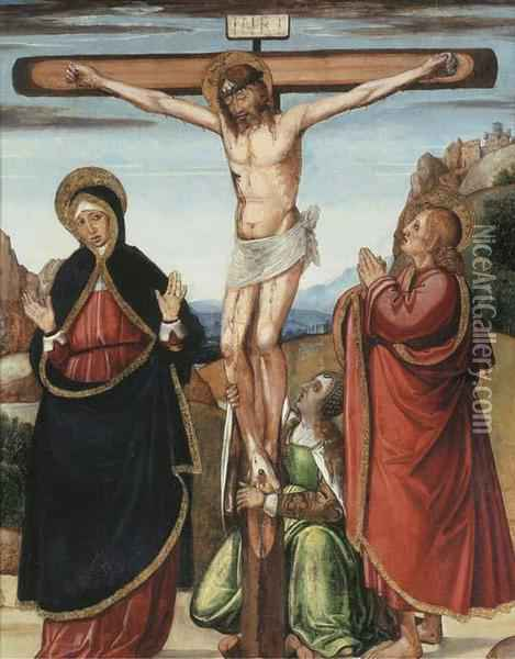 The Crucifixion Oil Painting - Ludovico Brea