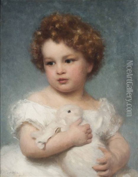A Favourite Pet Oil Painting - William Robert Symonds