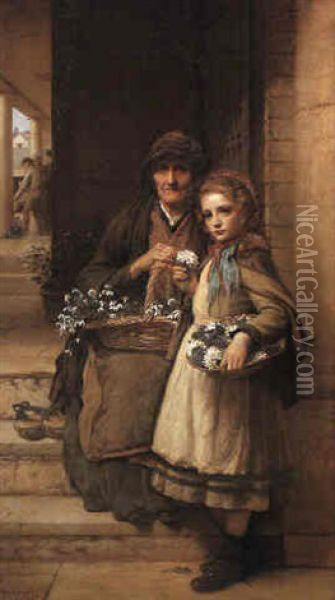 At The Market-gate, Covent Garden Oil Painting - William Robert Symonds